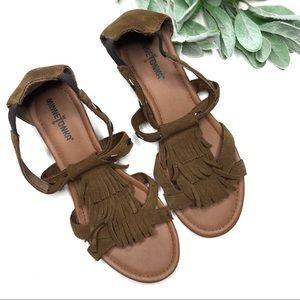 MINNETONKA | sz 8 suede leather fringe sandals